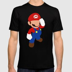 The world famous plumber (Mario) MEDIUM Black Mens Fitted Tee