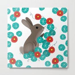 Nasturtium Bunny Metal Print