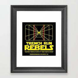 Trench Run Rebels Framed Art Print