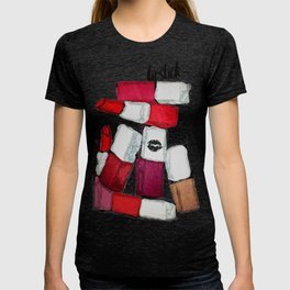 Colorful Stack of Lipsticks T-shirt