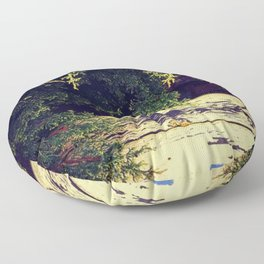 Yellow Wood in Shade Floor Pillow