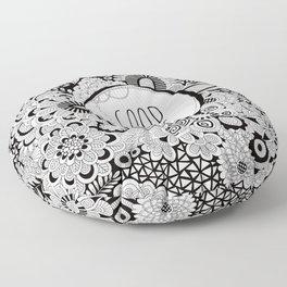 Good Vibes Doodle Floor Pillow