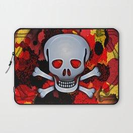 Skull with Bones Laptop Sleeve