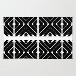 MONOCHROMA Geometrica : Black & White Box Pattern Rug