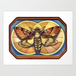 Deaths Head Moth Art Print