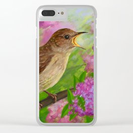 Spring nightingale Clear iPhone Case