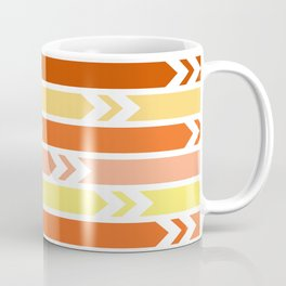 White arrows and colorful stripes Coffee Mug