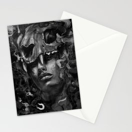 Empress Lion Skull Stationery Cards