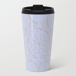 Dot Mandala Light Purple - 3D Pointilism Travel Mug