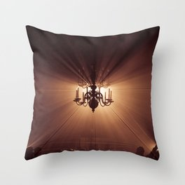 Behind the Candelabra Throw Pillow