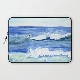 """""""Surfing"""" Watercolor on yupo paper Laptop Sleeve"""