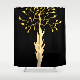 The Flaming Sword Guarding The Garden Shower Curtain