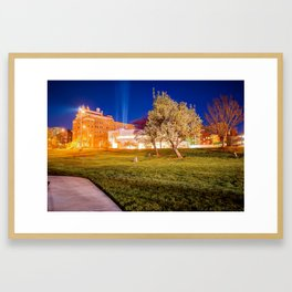Kansas City Spring Night Landscape - Plaza Area Framed Art Print