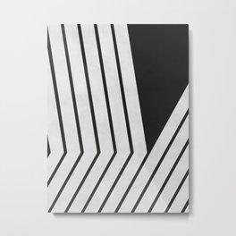 Black and White Geometric Art I Metal Print