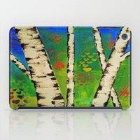 birch iPad Cases featuring Blue Birch by BeachStudio