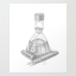 Bottled Ink and Fountain Pen Art Print