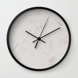 Vintage ivory brown elegant marble pattern Wall Clock