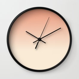 Antique White and Dark Salmon Ombre Colors Wall Clock