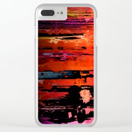 Red Rocks Abstract 1 Clear iPhone Case