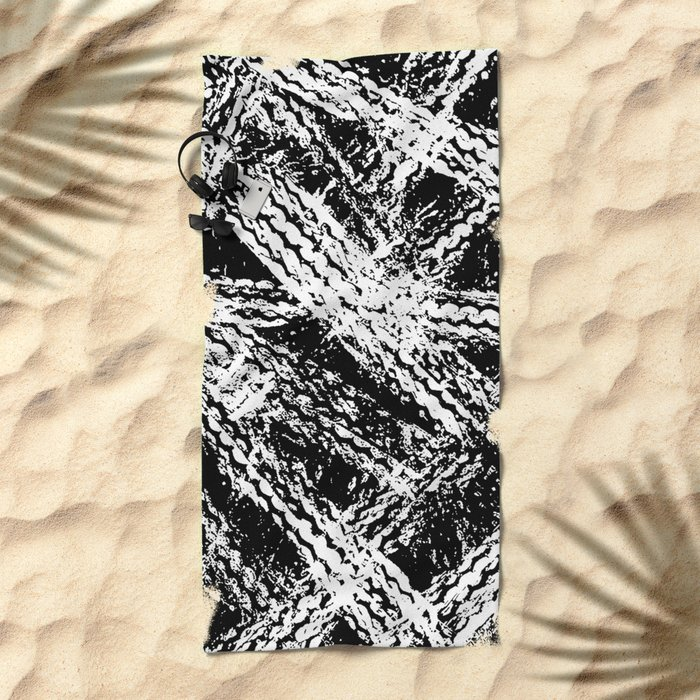 Desert Tracks Beach Towel