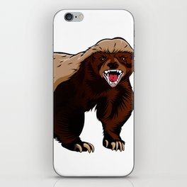 Honey badger illustration iPhone Skin