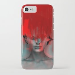 Red Head Woman iPhone Case
