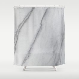 Sophisticated Polished White Marble Shower Curtain