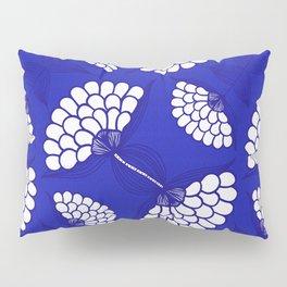 African Floral Motif on Royal Blue Pillow Sham