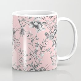 Chinoiserie Flowers Millennial Pink Coffee Mug