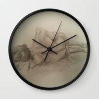 model Wall Clocks featuring Model by Eli Gross Art
