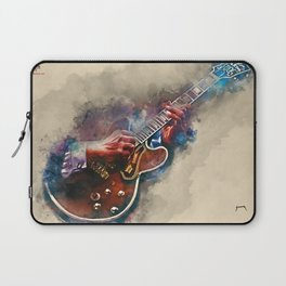 BB King's electric guitar, guitar wall art, studio decor, music room decor, gift for guitarist Laptop Sleeve
