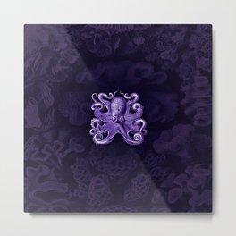 Octopus1 (Purple, Square) Metal Print