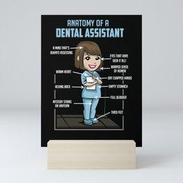 Anatomy Of A Dental Assistant Mini Art Print