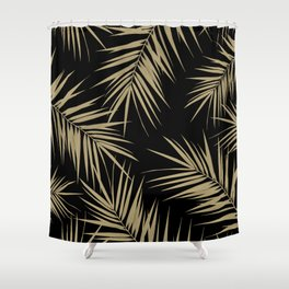 Palm Leaves Cali Finesse #1 #gold #tropical #decor #art #society6 Shower Curtain