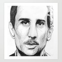 godfather Art Prints featuring Young Godfather! by DeMoose_Art