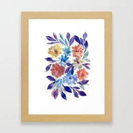 hand painted flowers_3c Framed Art Print