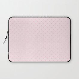 Light Soft Pastel Pink Mini Polka Dot Laptop Sleeve