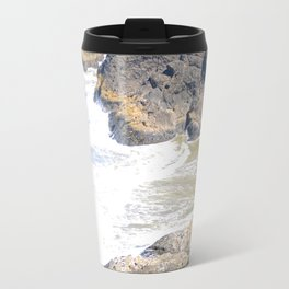 Ocean Rocks Metal Travel Mug