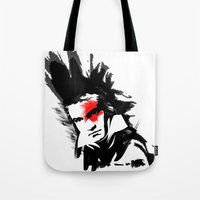 beethoven Tote Bags featuring Beethoven Punk by viva la revolucion
