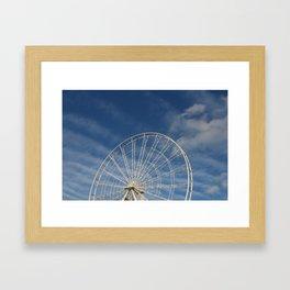 End of the Ferris Wheel Framed Art Print