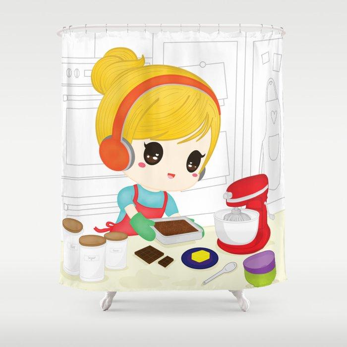 Let's Bake Shower Curtain