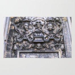 Ancient Grave Stone Greyfriars Kirk Graveyard Rug