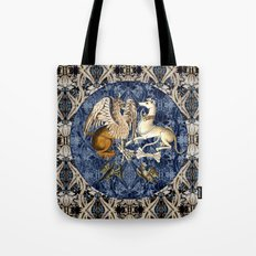 Tudor Pattern Book Gryphon and Greyhound Tote Bag