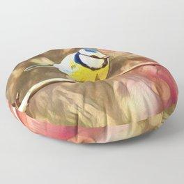 Chickadee lovely   Painting Floor Pillow