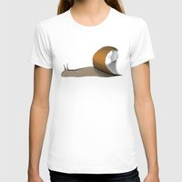 snail T-shirts featuring snail by gazonula