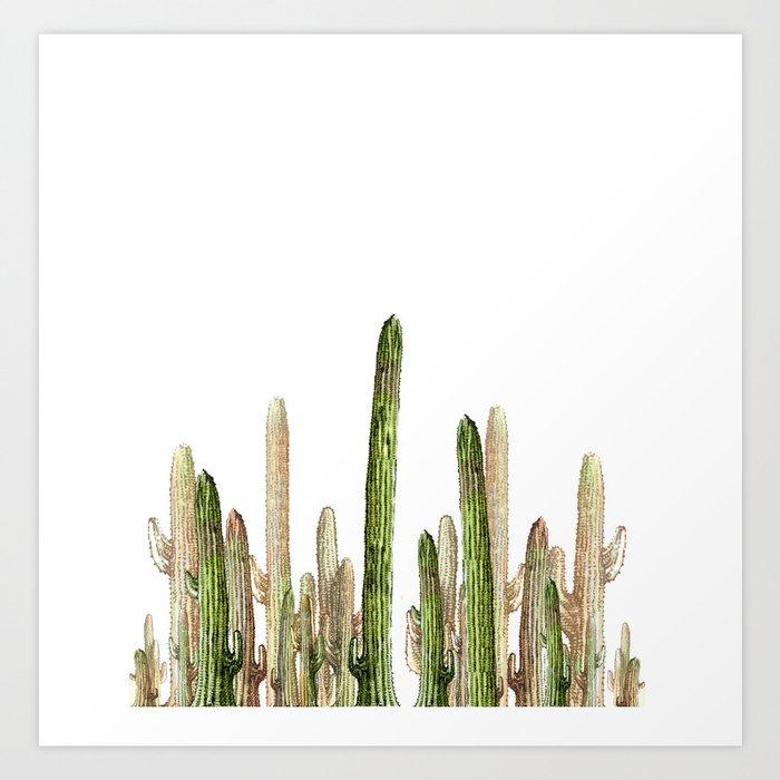 cactus invasion!!! Art Print