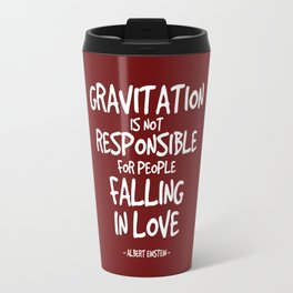 Falling in Love Quote - Albert Einstein Travel Mug