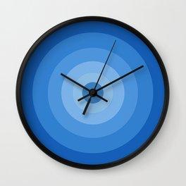 Blue Retro Bullseye Wall Clock