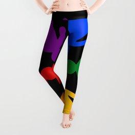 Rainbow people circle Leggings