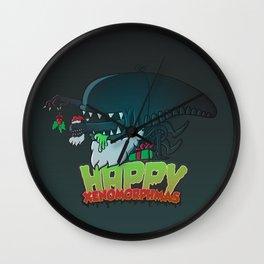 Happy Xenomorphmas Wall Clock